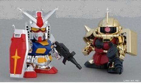 BB RX-78-2 Vs Zaku-II # Event Limited {Silver & Gold Coating} (2)