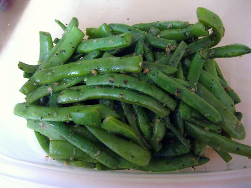 Garlic Wide Green Beans (finished)