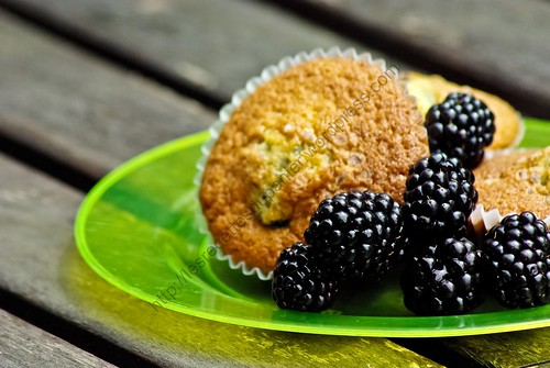 Muffins aux mûres / Blackberry Muffins