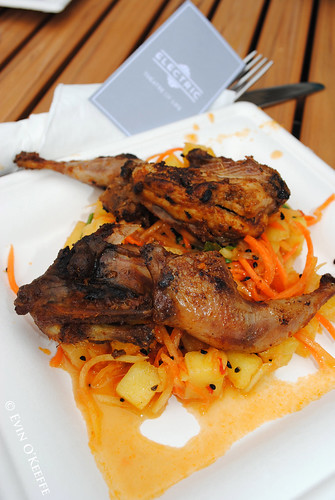 Electric's Quail over Papaya Salad