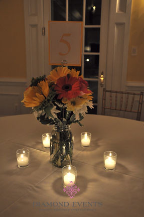 Wedding Centerpiece in the candle light