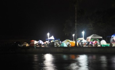 Campers at Space View Park Night Before Final Launch of Space Shuttle Atlantis, Titusville, Fla., July 7, 2011