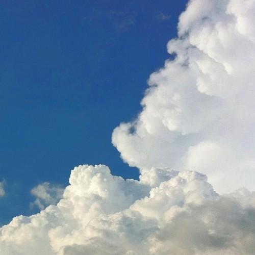 入道雲だけど、人の顔に見えない? #cloud #iphoneography #instagram