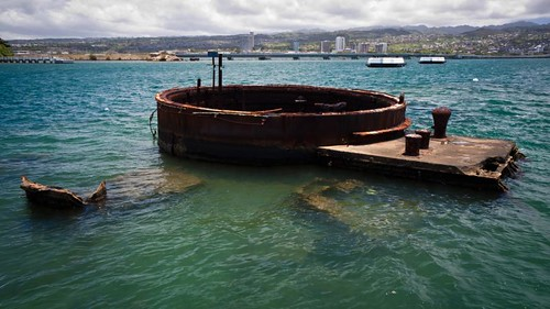 Remain of the turret #3 of the USS Arizona