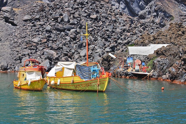 Île de Nea Kameni, Santorin