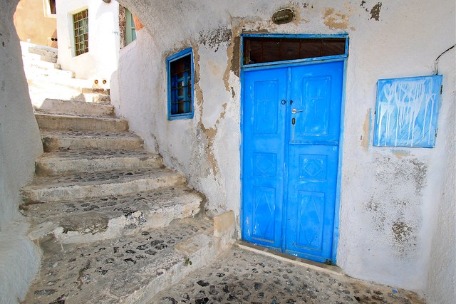 Porte d'église, Santorin