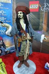 LEGO Captain Sparrow Statue at the LEGO booth - San Diego Comic Con - 1
