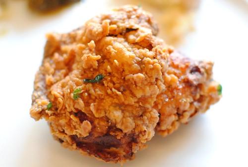 fried chicken close