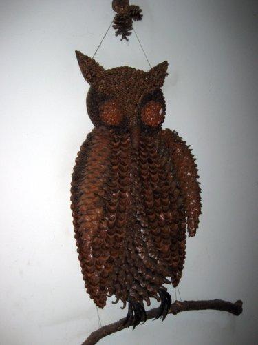 Pine cone owl art