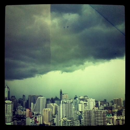 Asok sky, before the rain.