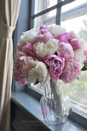 Pink and White Peony Bridal Bouquet