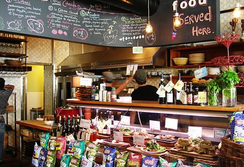 Deli counter in Olive and Gourmando
