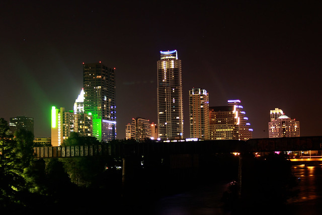 Nighttime in Austin