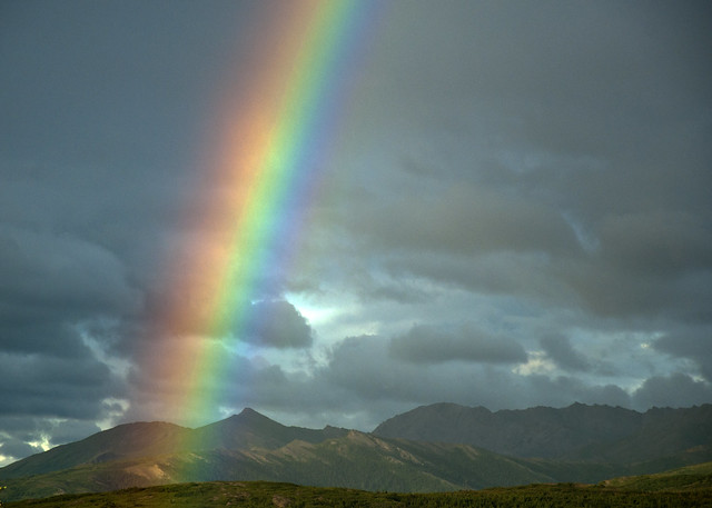 Rainbow outside Denali