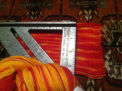 Fire hardtwist swatch the 2nd steam