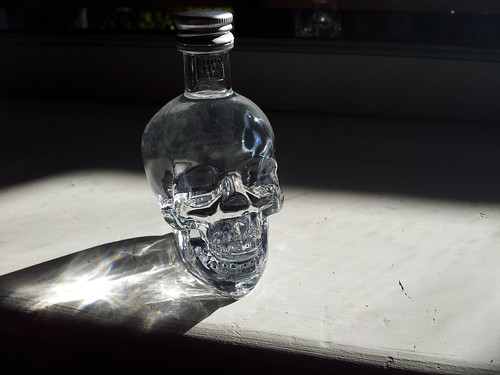 Mini Crystal Skull vodka.