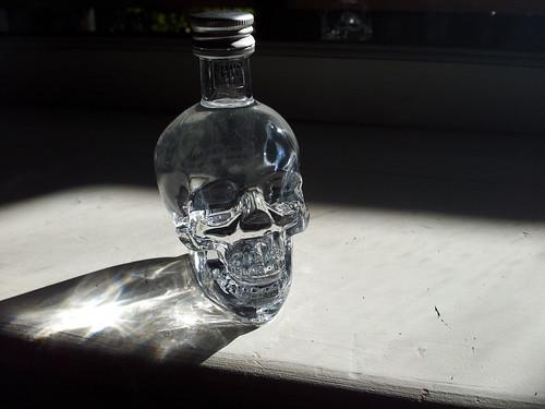 Mini Crystal Skull vodka.