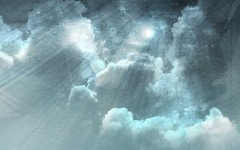 Free Abstract Cloudy Sky  Pale Blue Pine Backg...