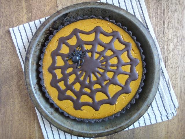 Chocolate pumpkin tart