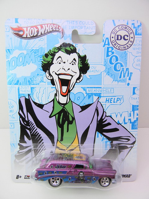 HOT WHEELS NOSTALGIA DC COMICS THE JOKER '56 CHEVY NOMAD (1)