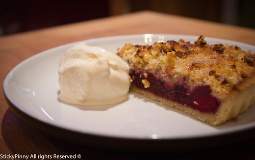 Dinner at the Manor Leeds Apple & Blackberry Crumble Tart