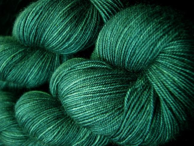 Blue Spruce - Bengal Twist Hand Dyed Sock Yarn