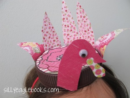 bottle cap thanksgiving turkey kid's craft hat