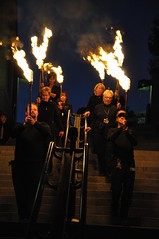 Torch Procession During a Partial Lighting