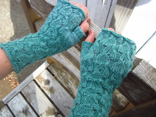 Fallberry fingerless mitts