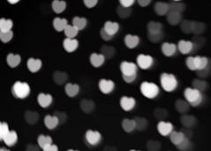 B & W hearts texture