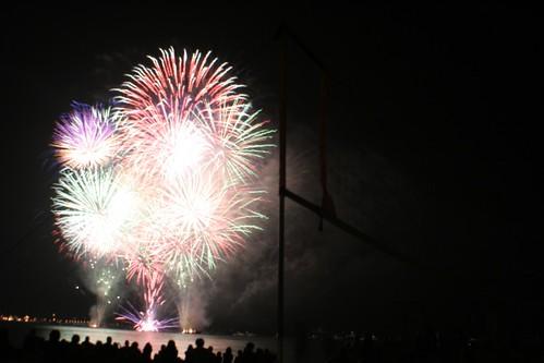 Fogos de artifício a cada semana na praia em Juan-les-pins
