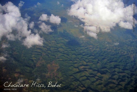 aerial view of the Chocolate Hills in Bohol