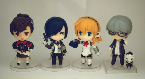 Aegis with protagonists from Persona 3 and 4