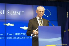 President Van Rompuy addresses to the press co...