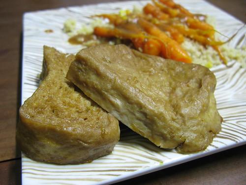 coconut lime baked tofu