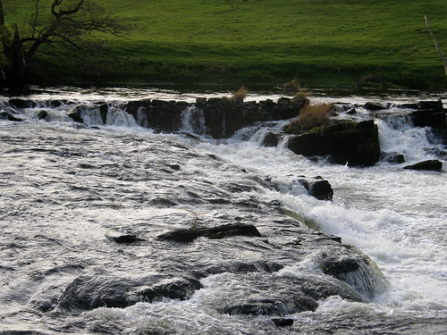 Part of weir on River Eden