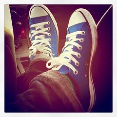 Blue converse all stars!