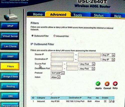 DynDNS web server port forward on XAMPP