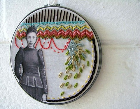 Vintage Photo Embroidery Art