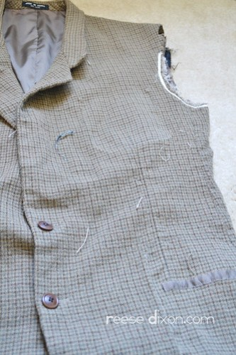 Tweed Blazer Step 2
