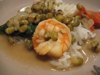 Munggo (mung bean soup)