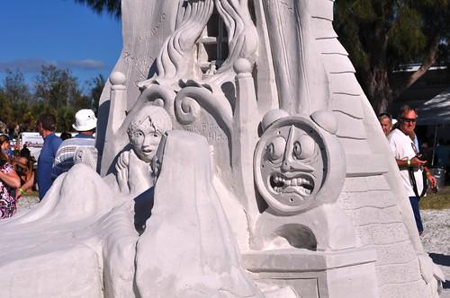 "John Gowdy and Brad Goll, ""Back to School Nightmare"", Earned Third Place, Siesta Key Crystal Classic Master Sandsculpting Competition, Sarasota, Fla., Nov. 13, 2011"