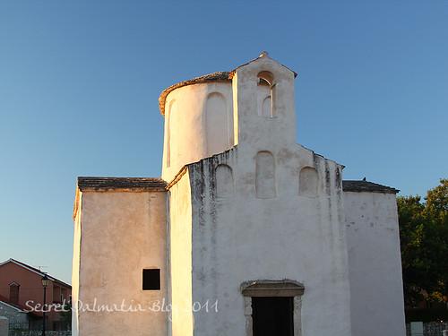 The dawn light on Sv Kriz