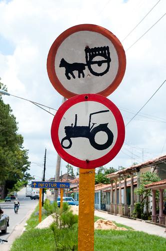 Vinales, Cuba, sign