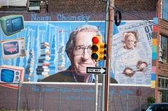 Noam Chomsky Mural, in Philadelphia