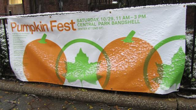 snowtober. no pumpkin fest.