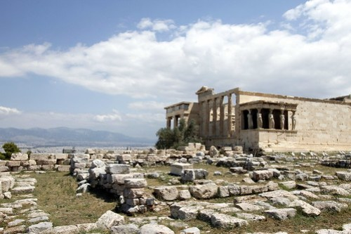 Erechtheum and ruins of Old Temple of Athena