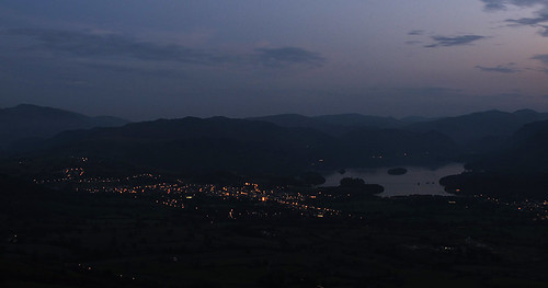 Derwent Water and Keswick in the gloaming