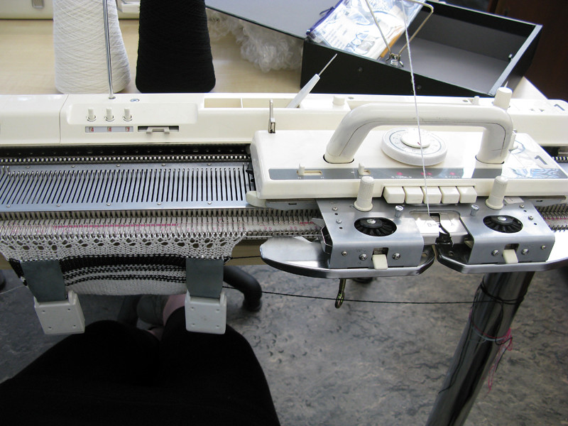 Machine knitting!