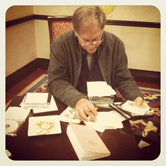 Robert Krulwich prepping #duxcamp